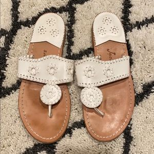 Women's Size 7 white Jack Rogers Sandals